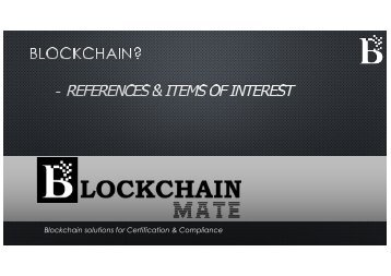 Blockchain References by BlockChain Mate