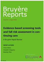 Falls assessment in continuing care
