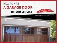 4 Things to Know Before Hiring a Garage Door Repair Service in Boise
