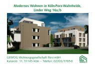Linder Weg 16a, I. Obergeschoss - GEWOG
