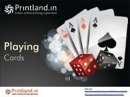 Buy Personalized and Customized Playing Cards Games Online in India - PrintLand.in