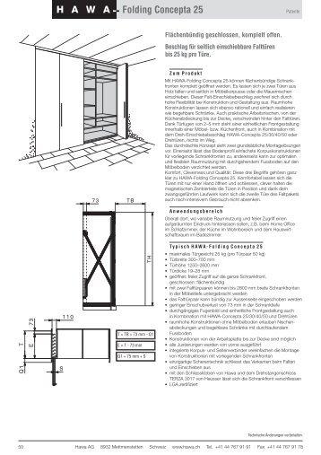 HAWA Folding Concepta 25