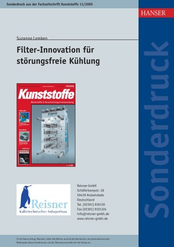 Filter-Innovation für störungsfreie Kühlung - Reisner AG ...