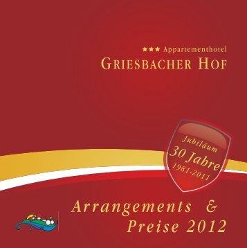 Preisliste Saison 2012 - Griesbacher Hof