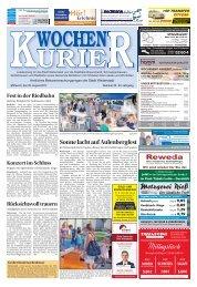Wochen-Kurier 35/2017 - Lokalzeitung für Weiterstadt und Büttelborn