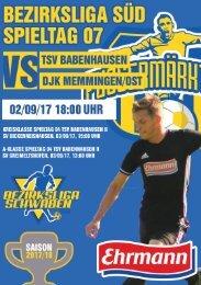 20170902 Fuggermärktler TSV 1862 Babenhausen - DJK Memmingen Ost