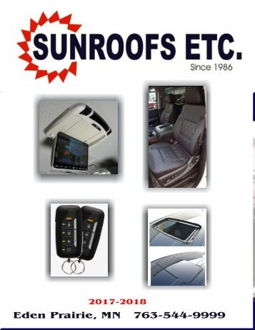 2017-2018 Sunroof Etc Catalog