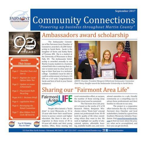 September 2017 - Fairmont Area Chamber Newsletter