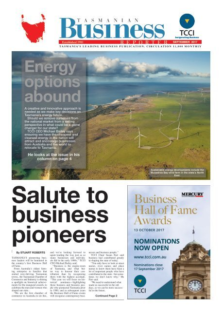 Tasmanian Business Reporter September 2017