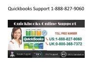 Quickbooks Support 1-888-827-9060