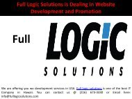 Full Logic Solutions is Dealing in Website Development and Promotion