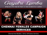 Celebrity escorts in Chennai- Gayatri Lamba