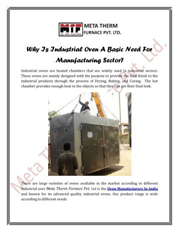 Why-Is-Industrial-Oven-Basic-Need-ForManufacturing-Sector