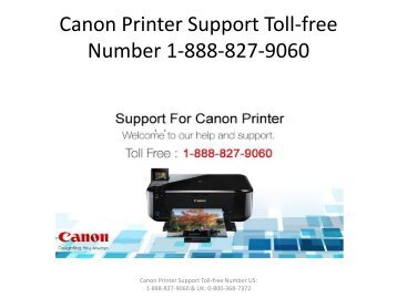 Canon Printer Support Toll-free Number 1-888-827-9060
