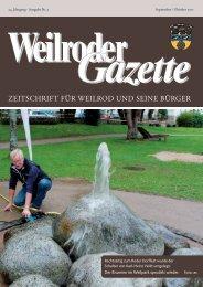 Weilroder Gazette September/Oktober 2017