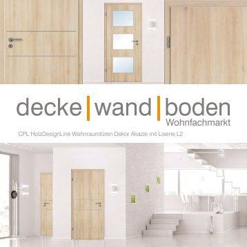 dwb Wohnraumtüren CPL Holz Design Line mit Lisene L2 Akazie
