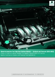 Global Automotive Fuel Injection Systems Market