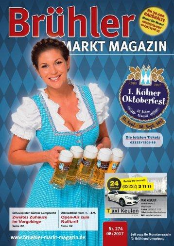 Brühler Markt Magazin August 2017