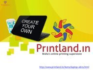 PrintLand.in - Buy Personalized and Customized Laptop Skins with Photo and Text Printing Online in India