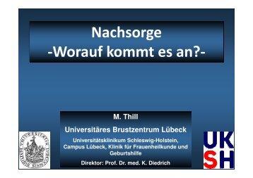 Nachsorge - UKSH Universitätsklinikum Schleswig-Holstein