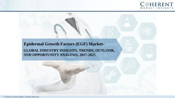 Epidermal Growth Factors Market - Global Industry Insights, Trends, Size, Share, and Analysis, 2017-2025