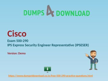 Download Free Cisco 500-290 Test Questions And Answers PDF