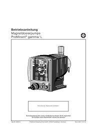 Betriebsanleitung Magnetdosierpumpe ProMinent® gamma/ L