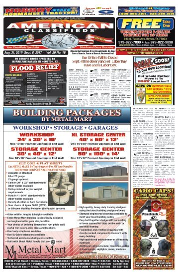 American Classifieds Aug. 31 Bryan/College Station