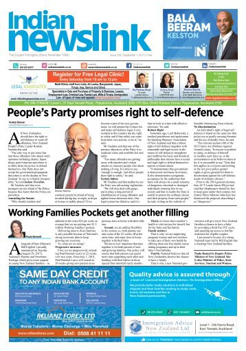 Indian Newslink Sept 1 2017 Digital Edition