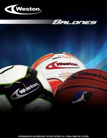 CATALOGO BALONES WESTON 2017