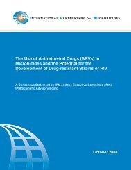 The Use of Antiretroviral Drugs (ARVs) - International Partnership ...