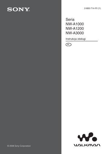 Sony NW-A3000 - NW-A3000 Istruzioni per l'uso Polacco