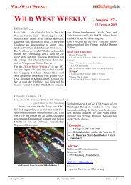 WILD WEST WEEKLY - Ausgabe 197 - Editorial ... - Rennserien-West