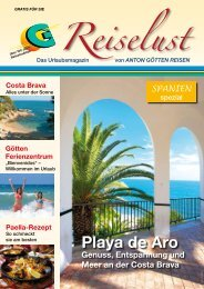 Anton Götten Reisen - Playa de Aro