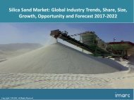 Global Silica Sand Market Share, Size, Trends and Forecast 2017-2022