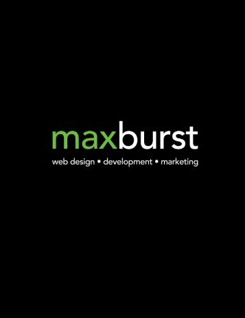 MAXBURST Inc - web design - development - marketing