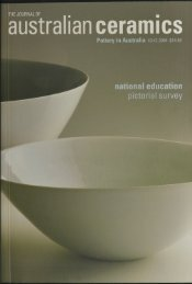 The Journal of Australian Ceramics Vol 43 No 2 July 2004