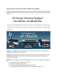 Methods to Resolve Quality Issues of HP Office Jet 6000 Printer Series (E609)