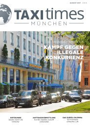 Taxi Times München - August 2017