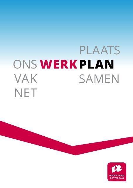 Ons WERKplan - Hogeschool Rotterdam