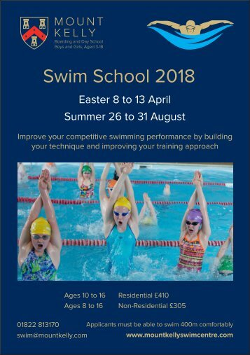 Mount Kelly Swim School Leaflet 2018