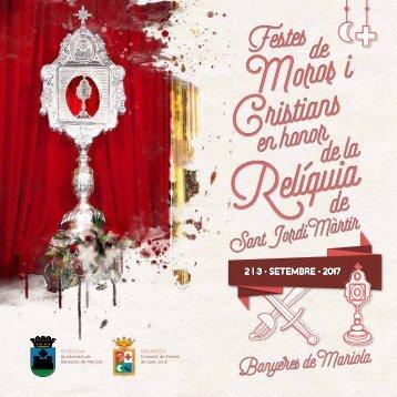 Programa Festes de Moros i Cristians en honor de la Relíquia e San Jord Màrtir (2017)