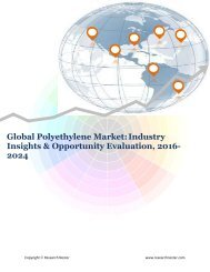 Global Polyethylene Market (2016-2024)- Research Nester
