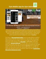 Gym Mobile App for Gym Admin