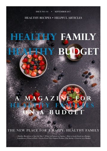 Healthy Family Healthy Budget Magazine