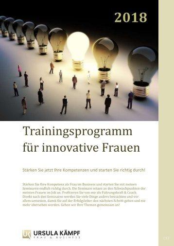 Broschüre Training