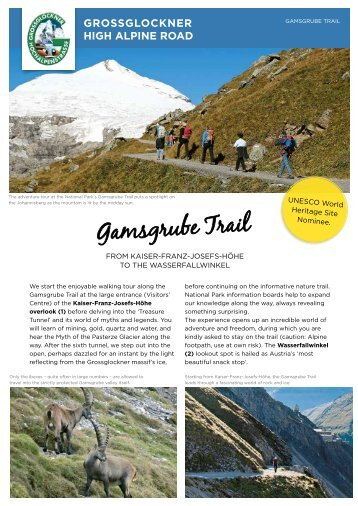 Hiking tips Grossglockner High Alpine Road