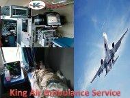 King Air Ambulance from Patna to Delhi at Low Cost
