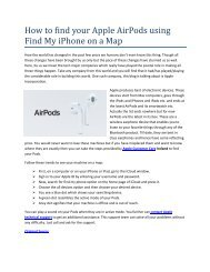 How to find your Apple AirPods using Find My iPhone on a Map