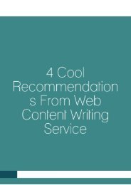 4 Cool Recommendations from Web Content Writing Service
